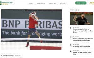 BNPパリバオープン2019男子シングルスの大会日程は?シードは?予想は?