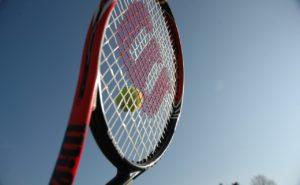 ウィルソンのラケットを使用するプロテニス選手
